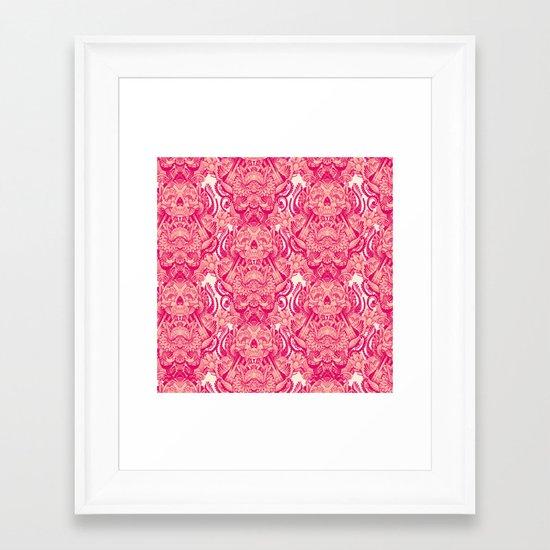 wallpaper skulls Framed Art Print