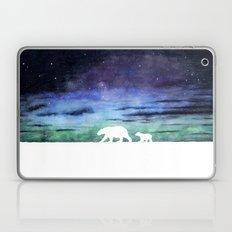 Aurora borealis and polar bears (white version) Laptop & iPad Skin