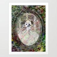 Gas Mask Mama Art Print