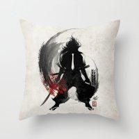 Corporate Samurai Throw Pillow