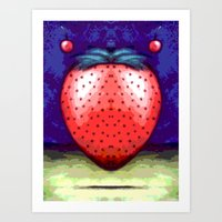 JAM BERRY BLUES Art Print