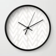 Chevron Tracks Wall Clock