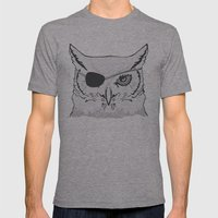 Owl Pirate Mens Fitted Tee Athletic Grey SMALL