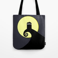 Tardis Black Nightmare Tote Bag