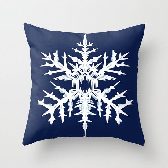 Evil Snow Throw Pillow