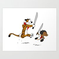 Bonifacio and Hobbes Art Print