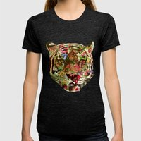 Tiger Womens Fitted Tee Tri-Black SMALL