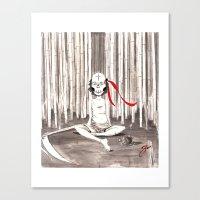 Death Wears a Mask Canvas Print