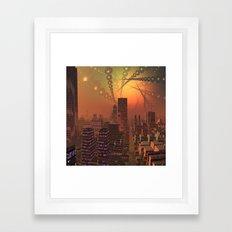 Spherople Alien City Framed Art Print