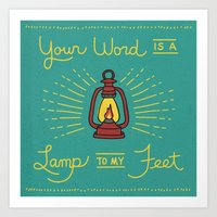 Your Word Is A Lamp To M… Art Print