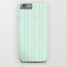 Herringbone Mint iPhone 6s Slim Case