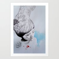 Hidden trees Art Print