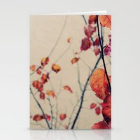 Contrasted Fall Stationery Cards