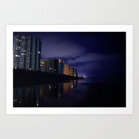 Daytona At Night Art Print