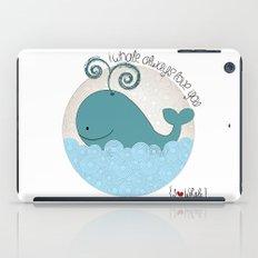 I {❤} Whale iPad Case