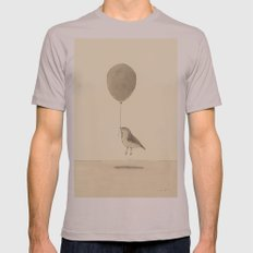 bird with a balloon Mens Fitted Tee Cinder SMALL