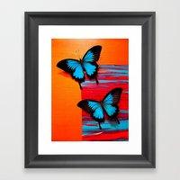 Blue Swallowtail on #5 Framed Art Print