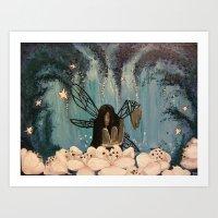 Dark Fairy Art Print