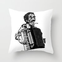 Acordeão Throw Pillow