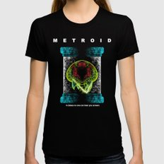 Metroid Womens Fitted Tee Black SMALL