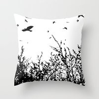 Flock Of Birds Throw Pillow