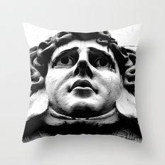 Stoney face Throw Pillow