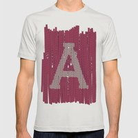 Winter clothes II. Letter A Mens Fitted Tee Silver SMALL
