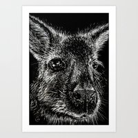 The Wallaby Art Print