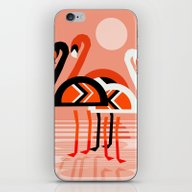 Posse - Flamingo Throwba… iPhone & iPod Skin