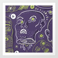Floating Heads (Hallowee… Art Print