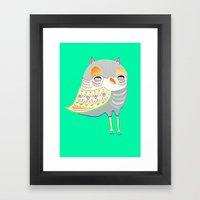owl illustration, owl print, owl art Framed Art Print