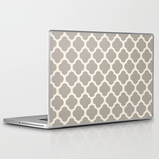 gray clover Laptop & iPad Skin