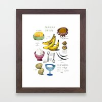 illustrated recipes: banana bread Framed Art Print