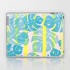 Linocut Monstera Neon Laptop & iPad Skin