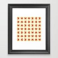 Red Butterflies Framed Art Print