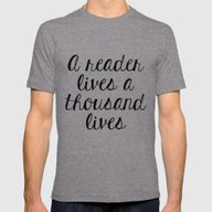 A Reader Lives A Thousan… Mens Fitted Tee Tri-Grey SMALL