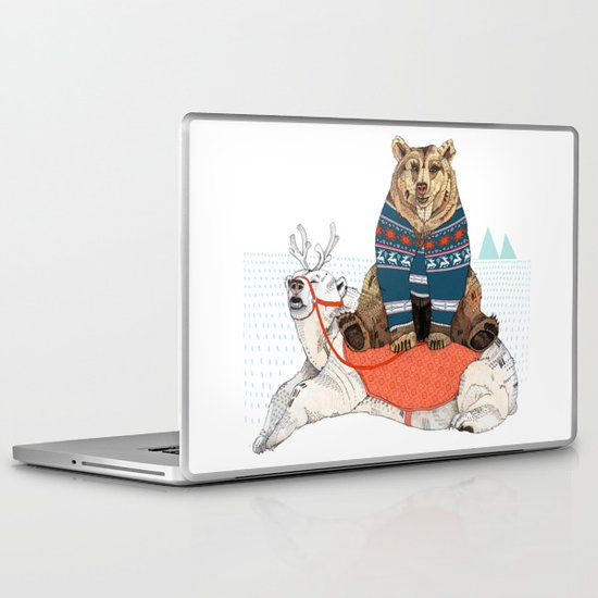 Bear Sleigh Laptop & iPad Skin