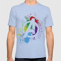 Avenge paint Mens Fitted Tee Athletic Blue SMALL