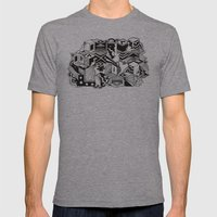 Cube-ular Mens Fitted Tee Athletic Grey SMALL