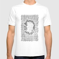 Letters  Mens Fitted Tee White SMALL