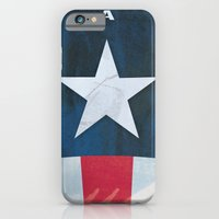 iPhone & iPod Case featuring Captain America Minimal by Shawn P Cowan