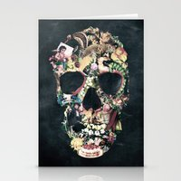 skull Stationery Cards featuring Vintage Skull by Ali GULEC