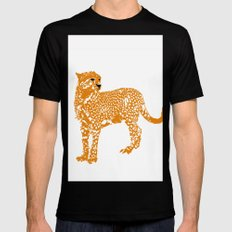 Mighty Cheetah  Mens Fitted Tee Black SMALL