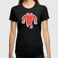 Big Red Womens Fitted Tee Tri-Black SMALL