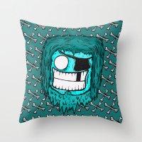 SKATE PIRATE Throw Pillow