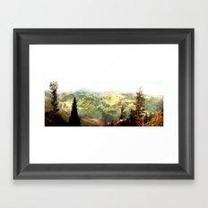 Vintage mountains Framed Art Print