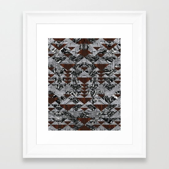 Wood Galaxy Framed Art Print