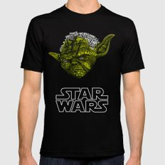 Yoda Black SMALL Mens Fitted Tee