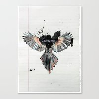 Canvas Print featuring Carry Me by Stroke a Bird