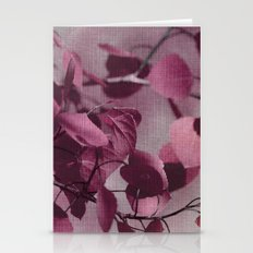 purple leaves Stationery Cards